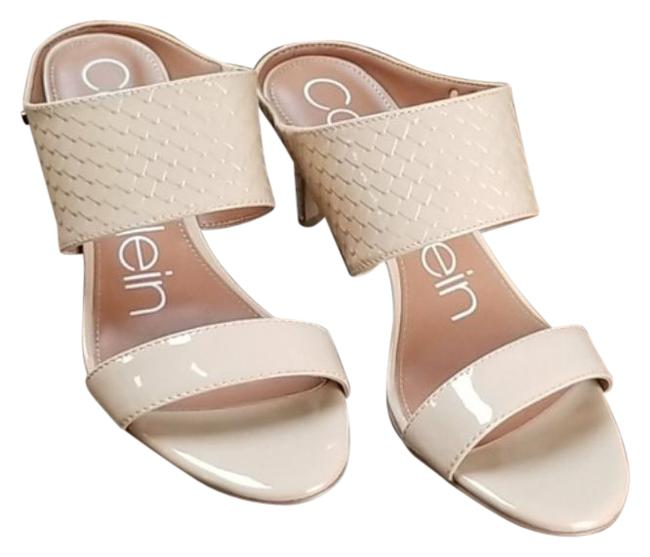 Item - Cream Womens Cecily Leather Open Toe Casual Slide Sandals Size US 7 Regular (M, B)