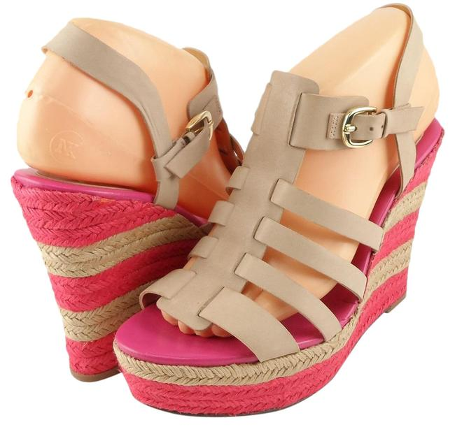 Item - Light Natural Pink Dehli Leather Espadrille Wedge Sandals Size US 8 Regular (M, B)