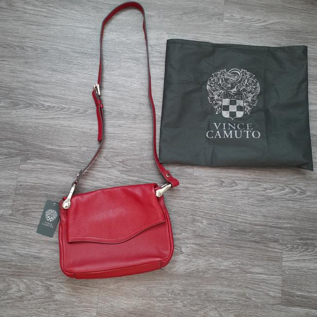 Item - New Red Leather Cross Body Bag