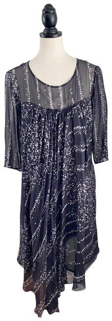 Item - Printed Silk Italy Mid-length Formal Dress Size 8 (M)