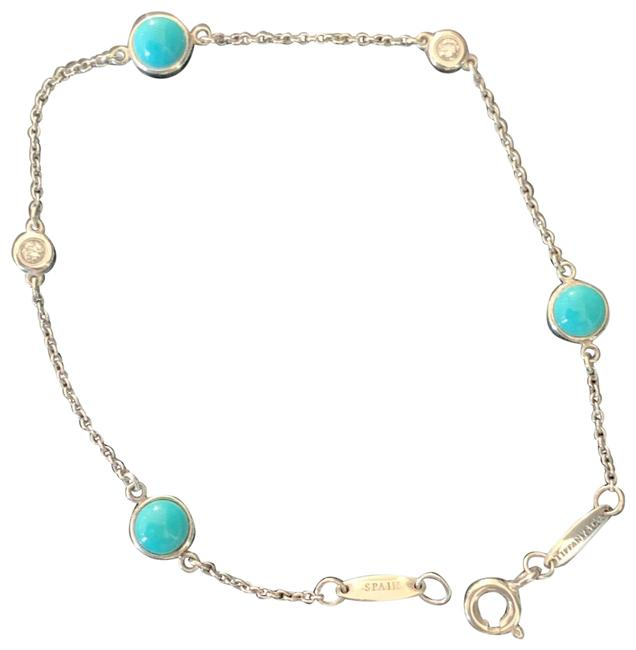 Item - Silver and Turquoise Diamonds By The Yard Bracelet