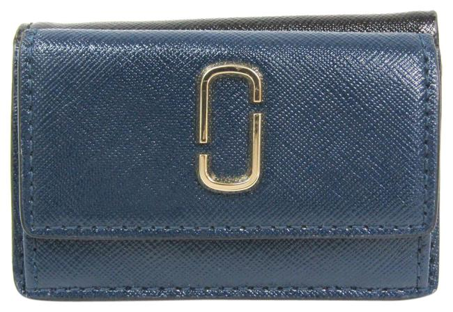 Item - Black / Navy The Snapshot Mini Trifold M0014492 Women's Coated Leather (Tri-fold) Wallet