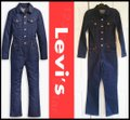 Levi's Blue Kick Flare Tricked Out Wash Utilitarian Overall Style No. 81862-0001 Romper/Jumpsuit Levi's Blue Kick Flare Tricked Out Wash Utilitarian Overall Style No. 81862-0001 Romper/Jumpsuit Image 2