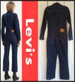 Levi's Blue Kick Flare Tricked Out Wash Utilitarian Overall Style No. 81862-0001 Romper/Jumpsuit Levi's Blue Kick Flare Tricked Out Wash Utilitarian Overall Style No. 81862-0001 Romper/Jumpsuit Image 7