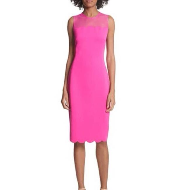 Ted Baker Pink Clowva Scallop Trim Bodycon Sleeveless Cocktail Dress Size 2 (XS) Ted Baker Pink Clowva Scallop Trim Bodycon Sleeveless Cocktail Dress Size 2 (XS) Image 3