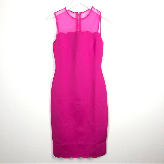 Ted Baker Pink Clowva Scallop Trim Bodycon Sleeveless Cocktail Dress Size 2 (XS) Ted Baker Pink Clowva Scallop Trim Bodycon Sleeveless Cocktail Dress Size 2 (XS) Image 5