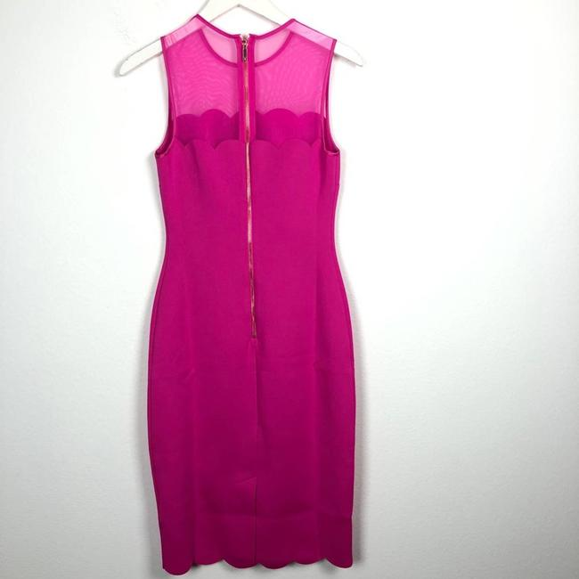 Ted Baker Pink Clowva Scallop Trim Bodycon Sleeveless Cocktail Dress Size 2 (XS) Ted Baker Pink Clowva Scallop Trim Bodycon Sleeveless Cocktail Dress Size 2 (XS) Image 10