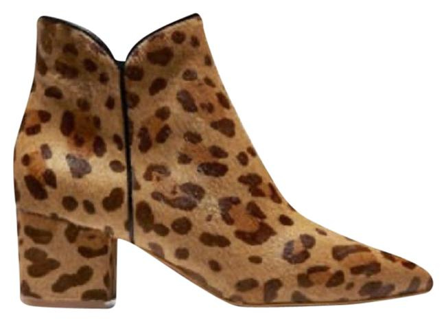 Item - Tan Brown Elyse Leopard Pointed Toe Ankle Boots/Booties Size US 8.5 Regular (M, B)