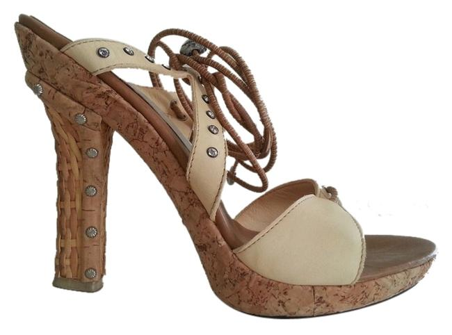 Item - Cream Neutral Nude By Strappy Heels Pumps Sandals Size US 7.5 Regular (M, B)