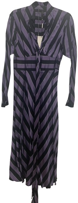 Item - Purple and Black Mid-length Cocktail Dress Size 2 (XS)
