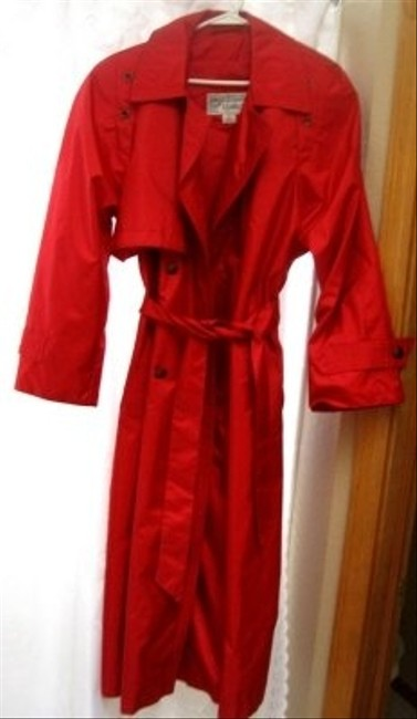 Preload https://item3.tradesy.com/images/casual-corner-shiny-red-also-water-resistant-back-is-cape-style-trench-coat-size-10-m-28587-0-0.jpg?width=400&height=650