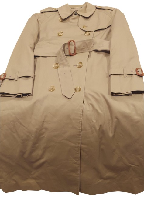 Item - Beige Women's Natural Midlength Cotton Sateen Trench Coat Jacket Size 6 (S)