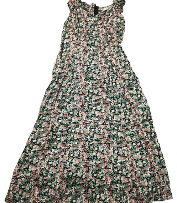 Item - Pink L Floral Boho Festival Grunge Long Casual Maxi Dress Size 12 (L)