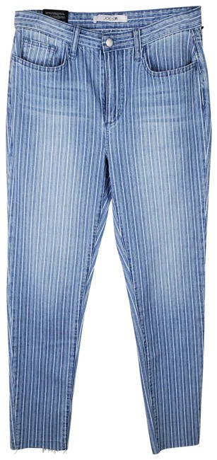 Item - Light Blue Wash High Rise Stripe Ankle Skinny Jeans Size 29 (6, M)