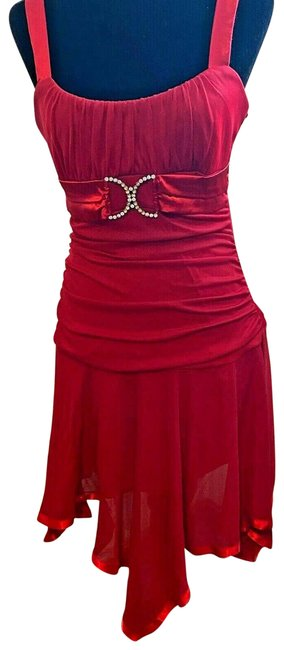 Item - Red XL Womens Homecoming Prom Wedding Mid-length Formal Dress Size 16 (XL, Plus 0x)