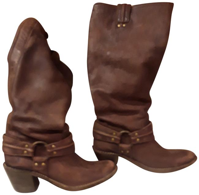 Item - Brown Harness Pull On Boots/Booties Size US 9 Regular (M, B)