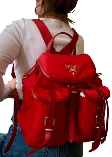 Item - Red Canvas Backpack