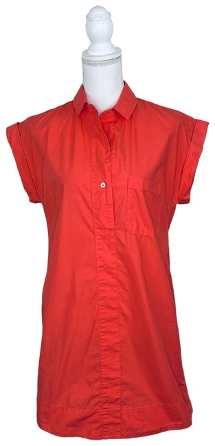 Item - Coral Rolled Sleeve Short Casual Dress Size 8 (M)