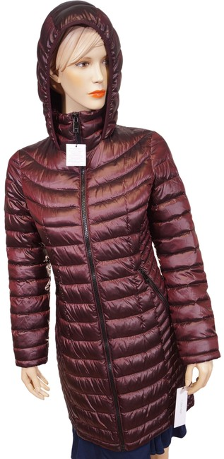 Item - Burgundy XS Red Hooded Packable Down Puffer Jacket Coat Size 0 (XS)