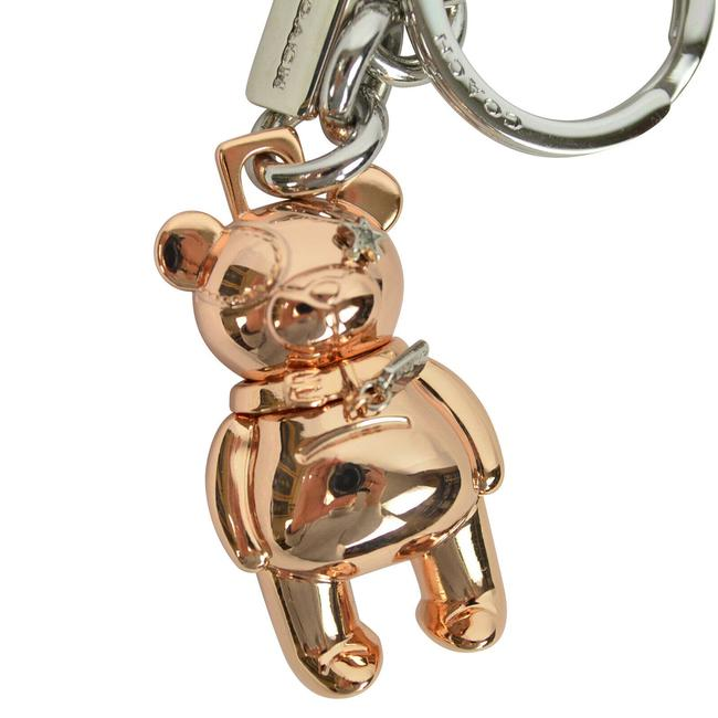 Item - Rose Gold and Silver 3d Tone Plated Bear Keychain Bag Charm