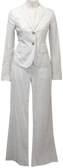 Item - Taupe Tailored Ivory & Small/4 Pant Suit Size 4 (S)