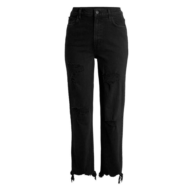 Item - Black Dark Rinse Jules Undercover Deconstruct Straight Leg Jeans Size 6 (S, 28)