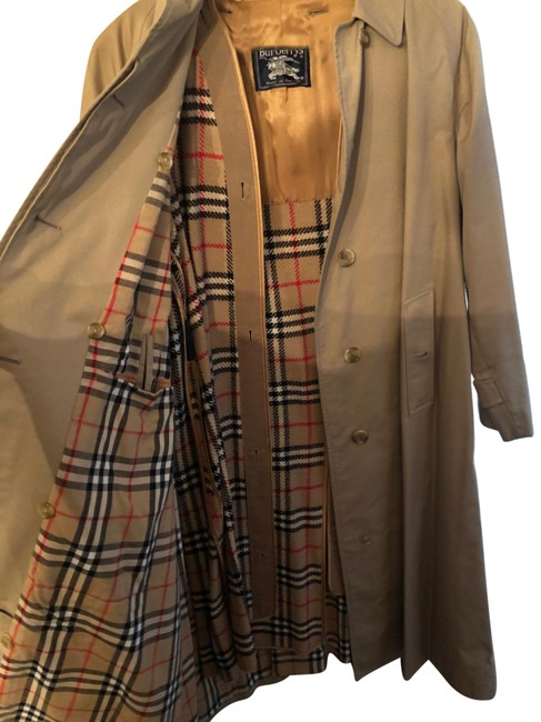 Item - Camel 14 Long C84b Women's Trench Jacket Size 10 (M)
