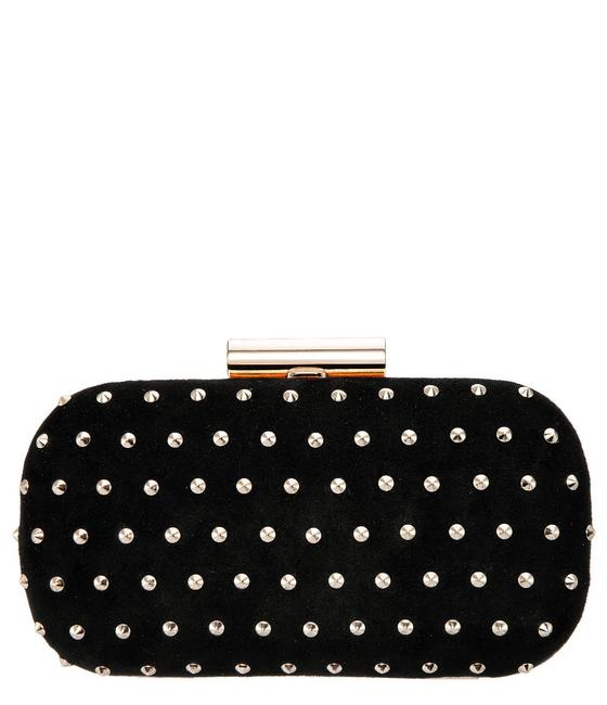 Item - With Gold Studs Black Faux Suede Clutch