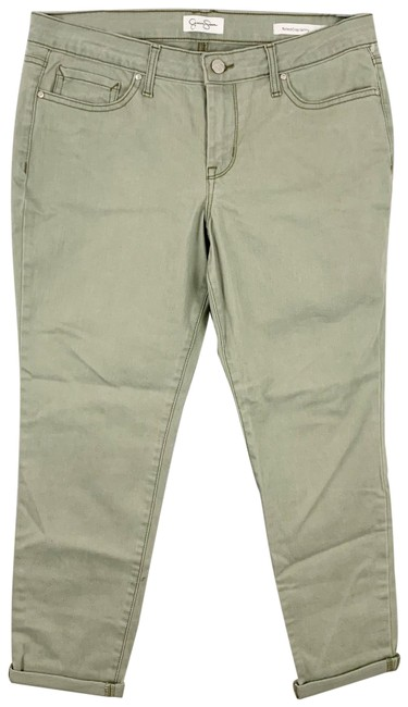Item - Green Light Wash Rolled Crop Skinny Jeans Size 10 (M, 31)