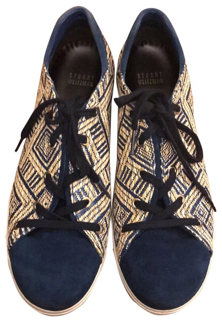 Item - Blue and Buff Flats Size US 8.5 Wide (C, D)