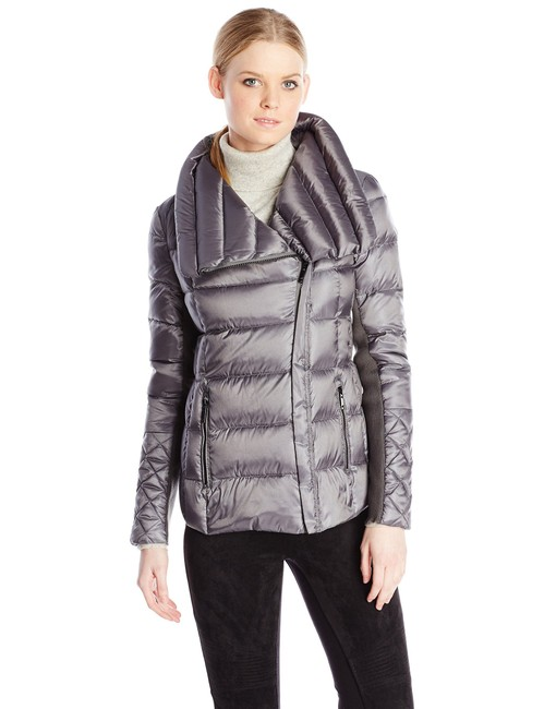 Item - Gray Lilly Down Waterfowl Feather Packable Puffer Coat Size 6 (S)