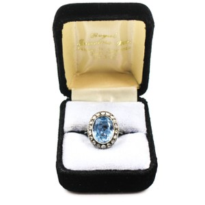 Chic Chic Size 6.5 14K White Gold Spinel & Diamond Ring