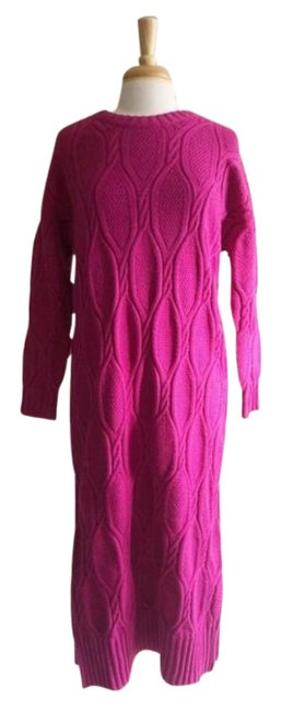 Item - Pink Purple Billie Cable Knit Sweater Long Casual Maxi Dress Size 6 (S)