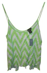 Wet Seal Chevro Chevron Top Daiquiri Green