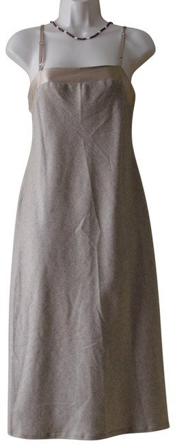 Item - Nude Beige Collection Wool Blend Spaghetti Strap Mid-length Night Out Dress Size 2 (XS)