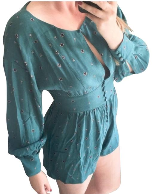 Item - Green New Fp Turquoise Love Grows Long Sleeve Medium Romper/Jumpsuit