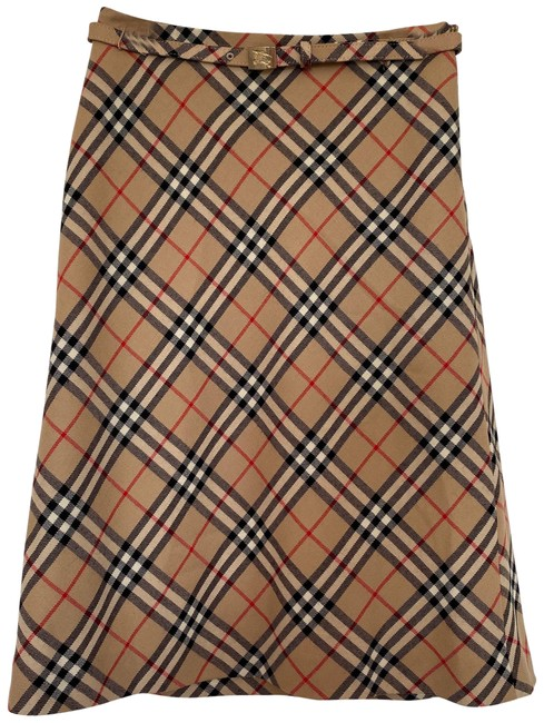 Item - Brown Black Check Belted A Line Skirt Size 2 (XS, 26)
