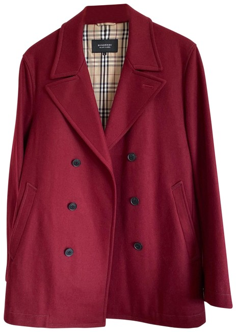 Item - Burgundy Double Breasted Jacket Size 12 (L)