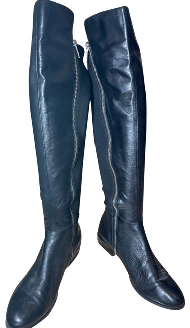 Item - Black Leather Riding Boots/Booties Size US 7.5 Regular (M, B)