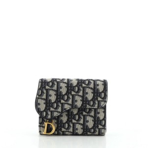 Christian Dior Saddle Flap Wallet Oblique Canvas Mini