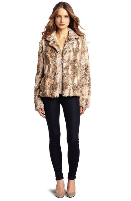 Item - Puddy Cream Mocha Brown Beige Heidi Coat Size 2 (XS)
