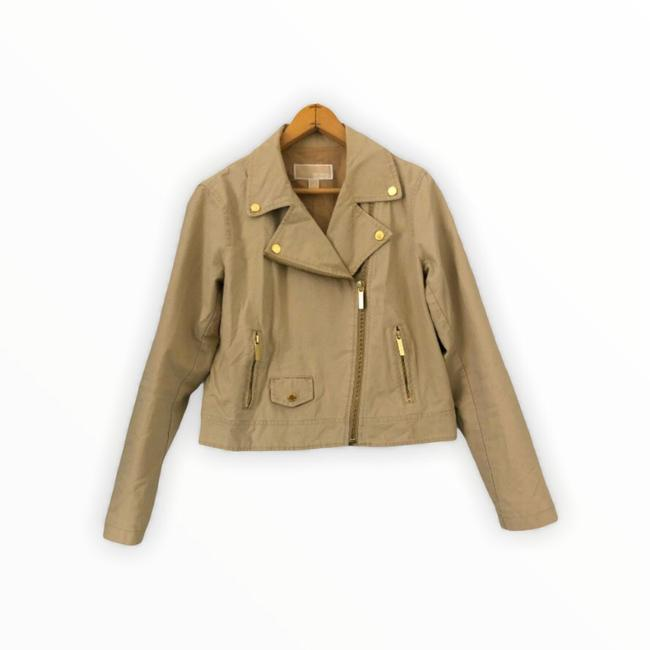 Item - Khaki / Gold By Cropped Cotton Jacket Size 4 (S)