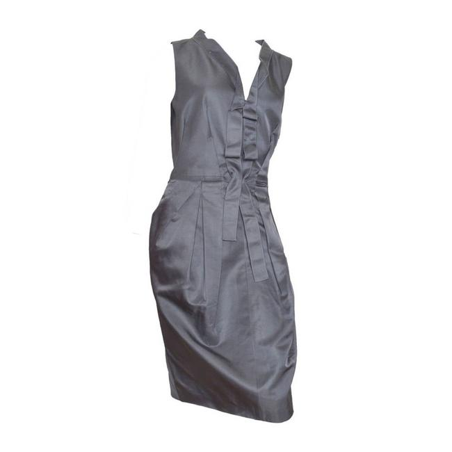 Item - Gray Structural Dress/44 Short Casual Dress Size 8 (M)
