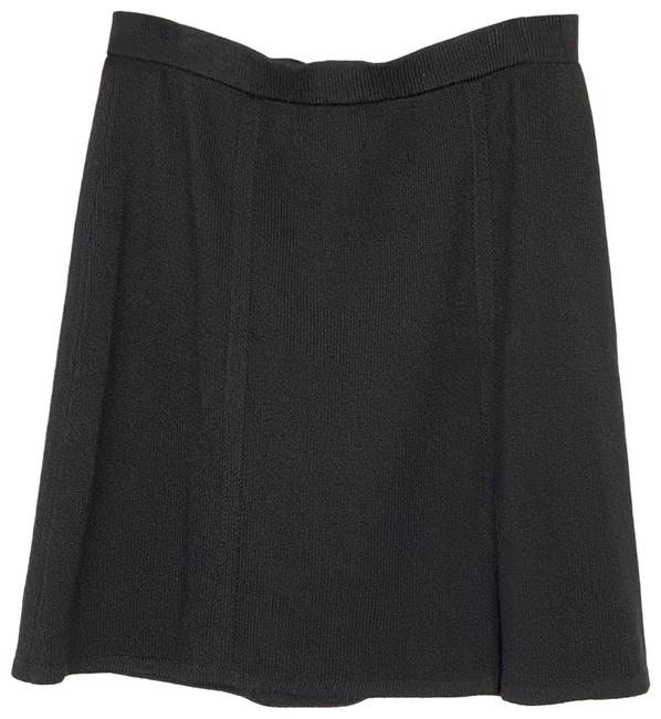 Item - Black Collection Santana Knit Slit Skirt Size 12 (L, 32, 33)