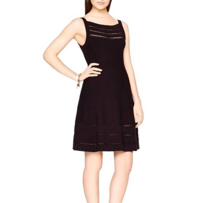 Item - Black Open Cable Sweater Night Out Dress Size 16 (XL, Plus 0x)