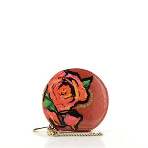 Item - Print Red Chapeau Coin Purse Limited Edition Monogram Vernis Roses Wallet