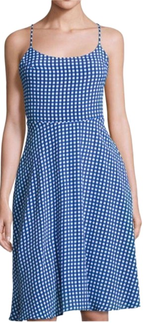 Item - Blue Gingham Small Short Casual Dress Size 6 (S)