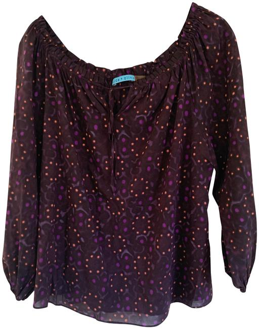Item - Purple and Peach Stylish From Blouse Size 6 (S)