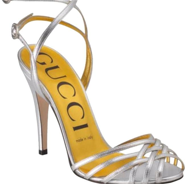 Item - Silver Draconia Ankle Strap Sandals Size EU 39 (Approx. US 9) Regular (M, B)