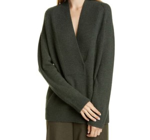 Item - Shawl Collar Cashmere Blend Forest Green Sweater